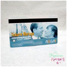 Le faire-part de Raphaëlle et Arthur   #Mariage #Bordeaux #Tickarte #TBC http://lespapierspimpants.fr/