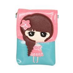 Blue & Pink Little Girl's Pouch, 3% discount @ PatPat Mom Baby Shopping App