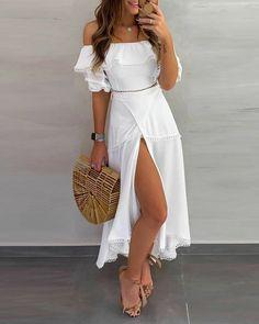 Elegantes Outfit Frau, Casual Dresses, Fashion Dresses, Elegant Dresses, Sexy Dresses, Wrap Dresses, Formal Dresses, Dresses To Wear To A Wedding, Hoco Dresses