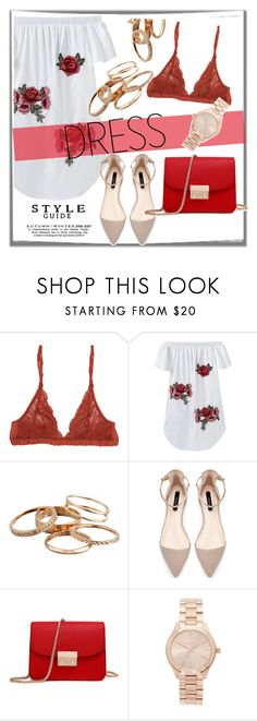 """Passionate RED"" by dchatzin ❤ liked on Polyvore featuring Aubin and Wills, Kendra Scott, Zara and Michael Kors"