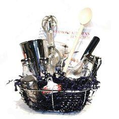 create a fun kitchen gift basket in a colander giftidea