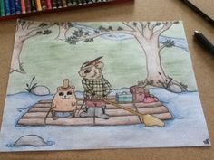 """My own kids book.....maybe...haha. I'd call it """"The Adventures of Quill and Potato"""" and yes, I drew this. :)"""