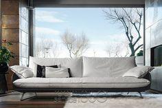 Cadillac Leather Sofa by Gamma Arredamenti
