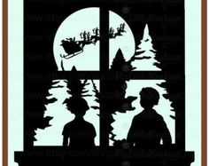 Popular items for christmas silhouette on Etsy