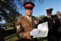 'The first British soldier to wear VC cross in over 30 years commemorates those awarded the cross for WWI'  November 7, 2014