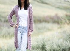 Verano Longline Cardigan Pattern – Mama In A Stitch Crochet Cardigan Pattern, Easy Crochet Patterns, Knit Cardigan, Free Crochet, Sweater Patterns, Long Cardigan, Crochet Coat, Crochet Sweaters, Knitted Shawls