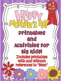 Grab & go activity to celebrate mothers and significant women in each child's life