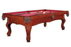 8 ft POOL Billard SEOUL antik braun Billardtisch Billiard Pooltisch in Sport, Weitere Sportarten, Billard | eBay