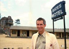 """File photo of Actor/Director Anthony Perkins taken in front of the Bates Motel and the house used in the movie """"Psyco & Psycho II"""" on the Universal Studios lot in Studio City, Calif. (Photo by Bob Riha Jr/WireImage) Anthony Perkins, Norman Bates, Scary Movies, Horror Movies, Boy Best Friend, Film Studio, Studio City, Horror Show, Fright Night"""