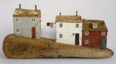 This one is Yorkshire-bound *whistles the Hovis ad tune* Kirsty Elson Designs Paper Doll House, Paper Houses, Putz Houses, Wood Houses, Tiny Houses, Kitsch, Kirsty Elson, Driftwood Art, Driftwood Ideas