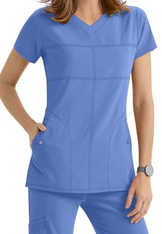 ced29f8ce2a Grey's Anatomy Signature 2 Pocket Soft V-neck Scrub Tops | Scrubs & Beyond
