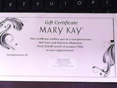 ... about Mary Kay on Pinterest | Mary kay, Gift certificates and May kay