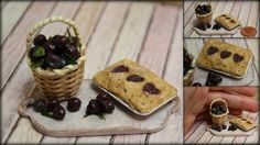 Puppenstube - Puppenküche - Miniatur Essen -Pflaume- Kuchen -1:12 | eBay