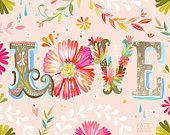 LOVE  horizontal  - print