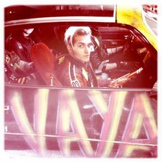 This photo was uploaded by mikeyway_daily from Mikey Way's Instagram. MCR's Danger Days - Killjoys on the road.