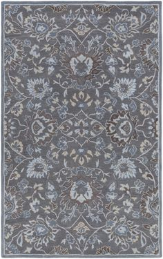 The CLL-1011 from the Castello collection is a hand tufted construction made of 100% wool in a traditional category of style. The rugs in this collection are approximately 1/2 inch thick and constructed in India by Surya and ships brand new, first quality from their warehouse via UPS.