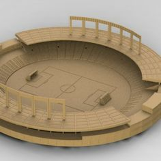 Estádio Serra Dourada Puzzle3D Quebra Cabeça 3D Projeto para Corte a Laser & Router Cnc