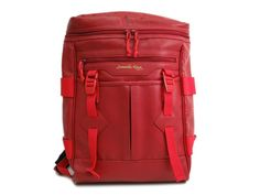 Samantha Kingz Backpack Faux Leather Red (BF091042). #eLADY global accepts returns within 14 days, no matter what the reason! For more pre-owned luxury brand items, visit http://global.elady.com