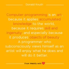 Inspiring coding quotes: Donald Knuth