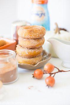 Pumpkin Donuts with Cinnamon and Sugar.