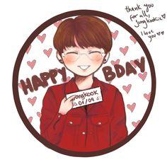 el dibujo que hice para el cumpleaños de jk :)