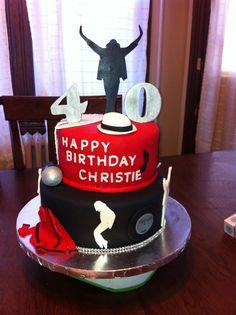 Michael Jackson fan cake