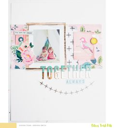Citrus Twist Kits: Together Always Layout with Brenda Smith Paper Bag Scrapbook, Scrapbook Journal, Scrapbook Page Layouts, Baby Scrapbook, Scrapbook Albums, Scrapbook Cards, Crate Paper, Studio Calico, How To Make A Paper Bag