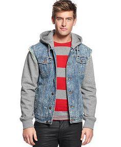 3rd & Army Intruder Hooded Denim Fleece Jacket. $89.00.   #fashion #men #denim #jacket #outerwear