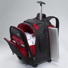 This revolutionary product combines the grab and go functionality of a wheeled backpack with the ease of upright rolling of spinner wheels. Buy Samsonite MVS Spinner Wheeled Backpack today at TravelSmarts Canada.
