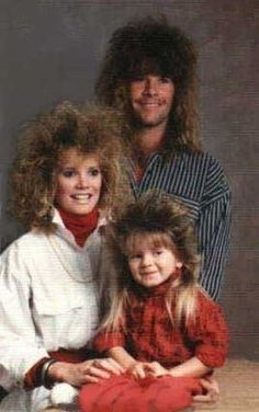 This would haves been a cool family in the 80's !!!!  Even the kid had the mullet (business in the front/party in the back)
