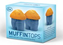 "I would love to have a display of products by ""Fred & Friends"" such as these ridiculous silicon muffin baking ""pans."""