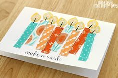 Adorable Handmade Sewn Birthday Cards tutorial from Miss Lovie for Thirty Handmade Days. Origami Birthday Card, Handmade Birthday Cards, Handmade Cards, Birthday Diy, Happy Birthday, Hand Made Greeting Cards, Making Greeting Cards, Fabric Cards, Christmas Card Crafts
