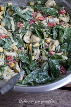 Tortellini, Vegetarian Recipes, Cooking Recipes, Healthy Recipes, Leafy Salad, Spinach Salad, Pasta Salad, Italian Recipes, Easy Meals