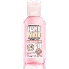 Soap & Glory Hand Maid antibacterial hand gel. This is the nicest smelling hand gel there is and my handbag wouldn't be without it!