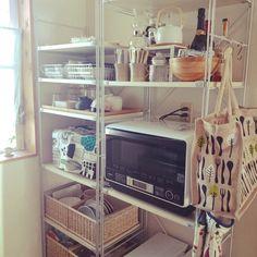 yuki_fさんの、無印良品,無印 ユニットシェルフ,キッチン収納,エコバッグ,IKEA,無印良品 ,収納,北欧,無印,無印収納,賃貸,マリメッコ,白山陶器,ユニットシェルフ,キッチン,のお部屋写真