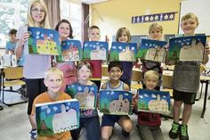 Viele Bilder der Burg: Die Projektwoche an der Grundschule Brome beschäftigt sich mit dem Thema Kunst.