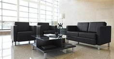 This modern reception space is highlighted by Citi series furniture for sale at OfficeAnything.com. #LoungeFurnitureSet #WaitingRoomIdeas