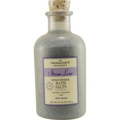Stress Less Ocean Mineral Bath Salts 23 Oz Blend Of Lavender, Chamomile, And Sage By Aromafloria