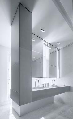 Solférino Apartment. A stylish and sexy bathroom.#luxuryfurniture, #interiordesign, #expensivehomes, #FiftyShadesofGrey, #bocadolobo