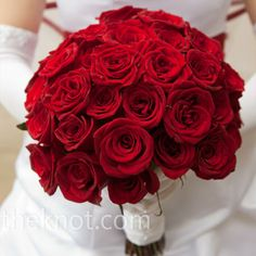 Red Roses Wedding Bouquet... Wedding ideas for brides, grooms, parents & planners ... https://itunes.apple.com/us/app/the-gold-wedding-planner/id498112599?ls=1=8 ... The Gold Wedding Planner iPhone App.