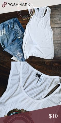Free Press Ribbed tank Goes perfectly with distressed jeans! Tops