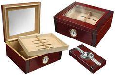 Sovereign 50 Ct. Humidor Set w/ Glass Top & External Hygrometer and Ashtray  #cigar #humidor #cigars #cigarmanor #cigargeek #highlife #BBQ #puffpuffpewpew #cigarart #scotch