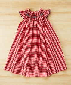 Silly Goose Red Sailboat Smocked Angel-Sleeve Dress - Infant, Toddler & Girls | zulily