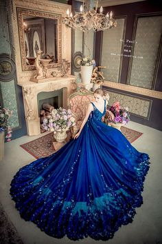 This stunning starry night blue gown from Wedding featuring glamourous details is taking our breath away! : This stunning starry night blue gown from Wedding featuring glamourous details is taking our breath away! Stunning Dresses, Beautiful Gowns, Elegant Dresses, Pretty Dresses, Beautiful Outfits, Glamorous Dresses, Evening Dresses, Prom Dresses, Formal Dresses