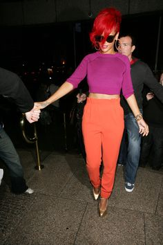 Rihanna High-Waisted Pants