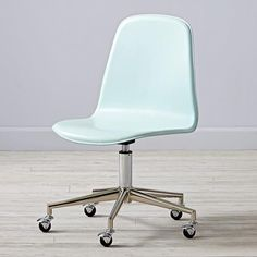 Class Act Mint & Silver Desk Chair  | The Land of Nod