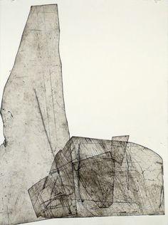 Batholith Etching, Monoprint #A-1, 2010, by Eben Goff