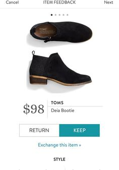 TOMS Deia Bootie from Stitch Fix. I love Stitch Fix! A personalized styling service and it's amazing!! Simply fill out a style profile with sizing and preferences. Then your very own stylist selects 5 pieces to send to you to try out at home. Keep what you love and return what you don't. Only a $20 fee which is also applied to anything you keep. Plus, if you keep all 5 pieces you get 25% off! Free shipping both ways. Schedule your first fix using the link below! #stitchfix @stitchfix…