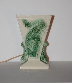 Vintage Mid Century 50s Atomic TV Lamp Ceramic by WaikikiKitsch, $65.00