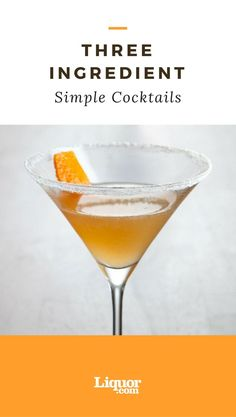 Who says a good #cocktail needs a dozen obscure ingredients? Some of the most enduring and popular recipes are actually some of the shortest and easiest to make! Here are seven of the best three-ingredient drinks, whose recipes we suggest you commit to memory. #vodkadrinks